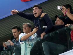 Maradona durante el Mundial de Rusia. (Foto: Getty)