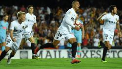Rodrigo fue el mejor de los valencianistas e hizo el empate. (Foto: Getty)