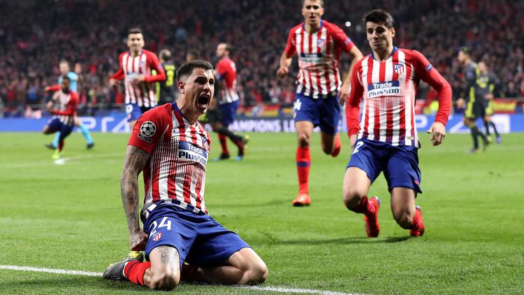 José Giménez traf zum Madrider Führungstreffer