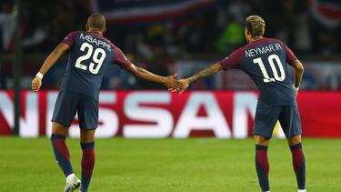 Zwischen Kylian Mbappé (l.) und Neymar soll es gekracht haben