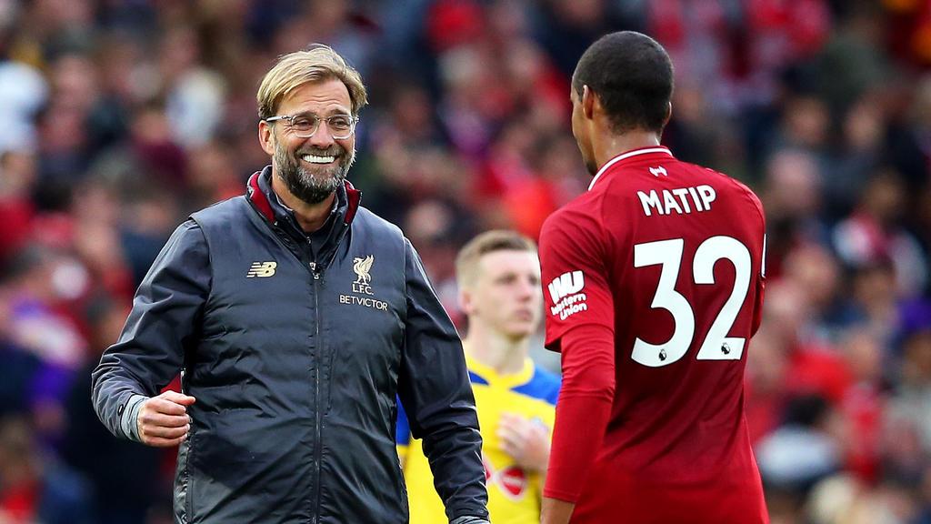 Mit dem FC Liverpool erfolgreich: Joel Matip und Jürgen Klopp