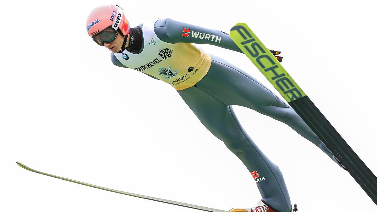 Karl Geiger wurde beim Weltcup-Auftakt in Polen Siebter