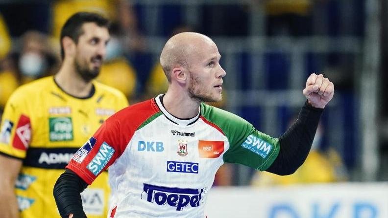 Magdeburgs Tim Hornke war beim Sieg gegen die Rhein-Neckar Löwen mit fünf Treffern bester Werfer seines Teams