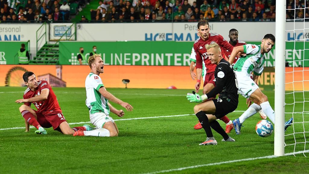 Lewandowski verpasst das Tor gegen Fürth