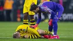 Erling Haaland musste beim BVB-Spiel in Gladbach eine Menge einstecken