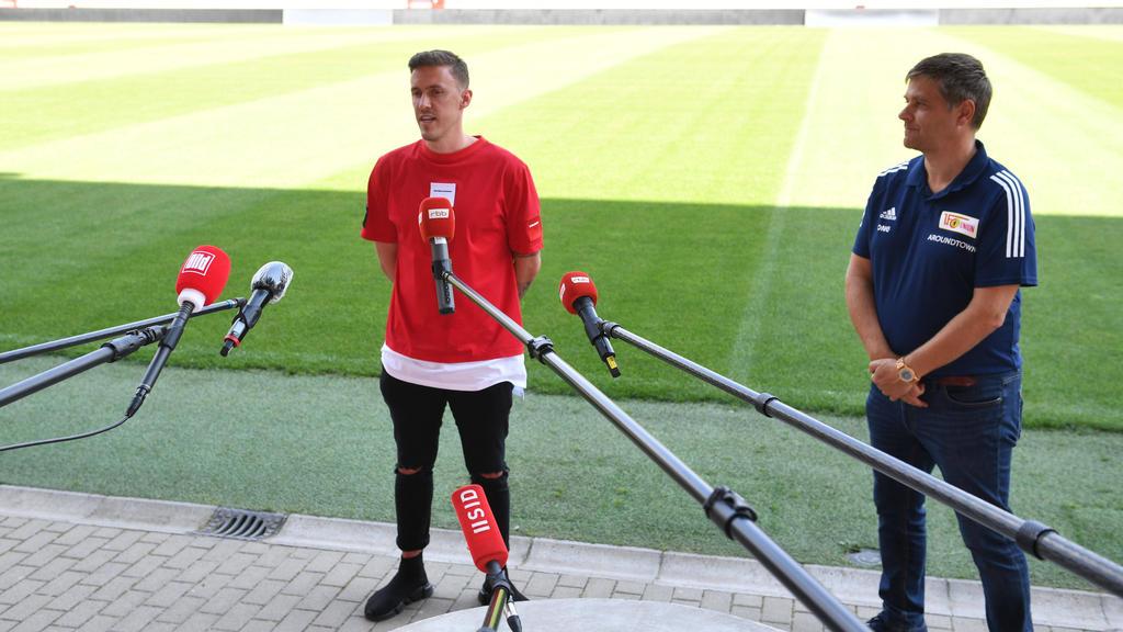 Max Kruse (l.) hat für zwei Jahre beim 1. FC Union Berlin unterschrieben