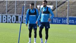 Amine Harit (l.) und Nabil Bentaleb (r.) wurden vom FC Schalke 04 suspendiert