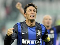 Inter-Kapitän Javier Zanetti wird seine aktive Karriere beenden