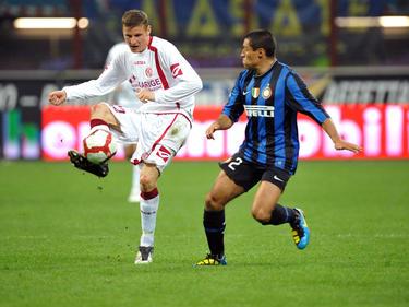 Jürgen Prutsch im Dress von Livorno gegen Inter