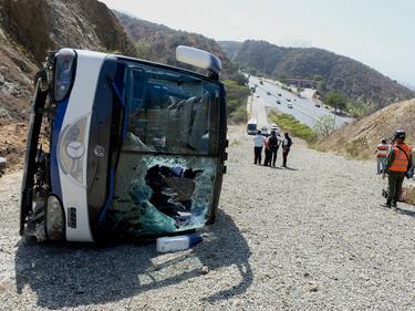 Accidente de tráfico de Huracán en Venezuela hace apenas un año tras disputar la Copa Libertadores. (Foto: Imago)