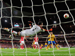 Una foto tratta dalla gara di andata tra Juve e Benfica