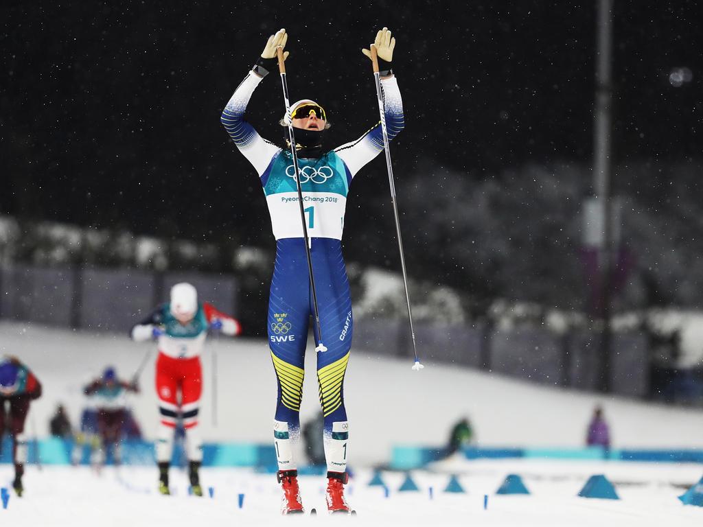 Stina Nilsson konnte ihr Glück bei der Zieldurchfahrt kaum fassen