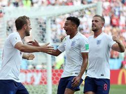 Die Three Lions rund um Harry Kane (li.) trafen satte sechs Mal gegen Panama