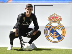 Courtois en su presentación con el Real Madrid. (Foto: Getty)
