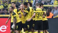 Borussia Dortmund bejubelt den knappen Sieg