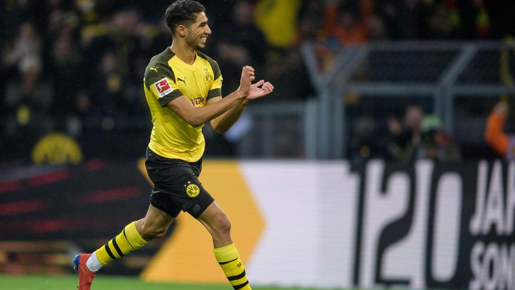 Achraf Hakimi vom BVB gehört zu den schnellsten Spielern der Fußball-Bundesliga