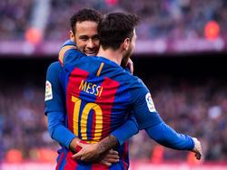 Messi marcó otro gol de falta directa esta temporada. (Foto: Getty)