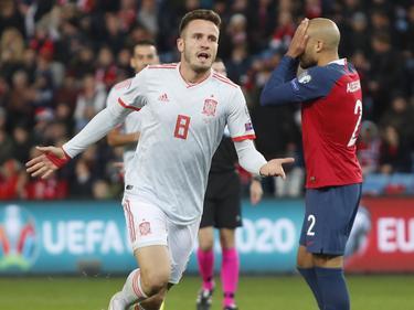 Saúl hizo el tanto español tras el descanso.