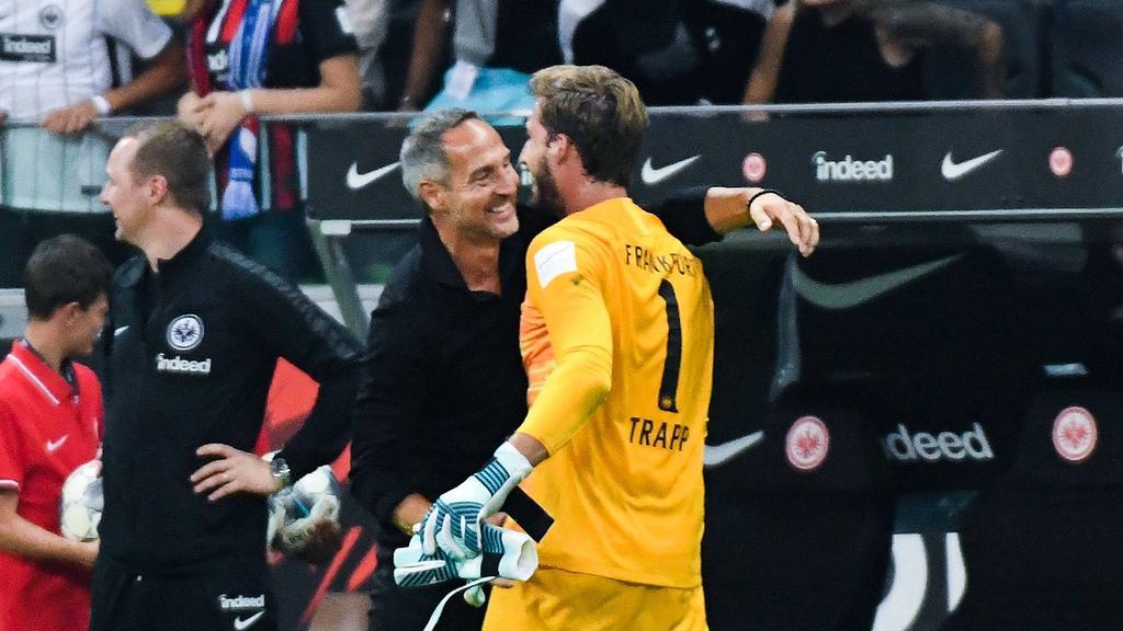 Adi Hütter kann gegen Hoffenheim wieder auf Kevin Trapp setzen