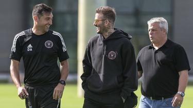 David Beckham (M.) tritt mit Inter Miami in der MLS an