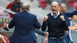 Heiko Herrlich (r.) will mit Augsburg gegen Hoffenheim nachlegen
