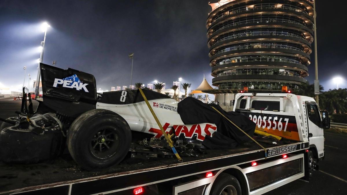 Das Autowrack von Romain Grosjean wurde bereits eingehend inspiziert