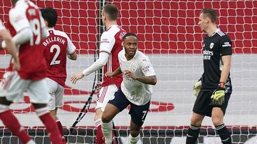 Raheem Sterling erzielte früh das Siegtor für Manchester City