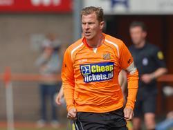Jack Tuyp in actie tijdens FC Volendam - Go Ahead Eagles. (26-5-2013)
