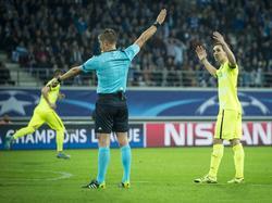 Unzufrieden mit dem Referee