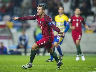 Ronaldo lideró a la campeona de Europa a la primera victoria en fase de clasificación. (Foto: Getty)
