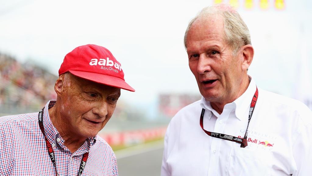 Helmut Marko (re.) hat über Niki Lauda gesprochen