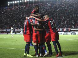 El San Lorenzo celebra el segundo gol de Barrios. (Foto: Getty)