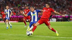 El delantero polaco fue lo mejor del Bayern.