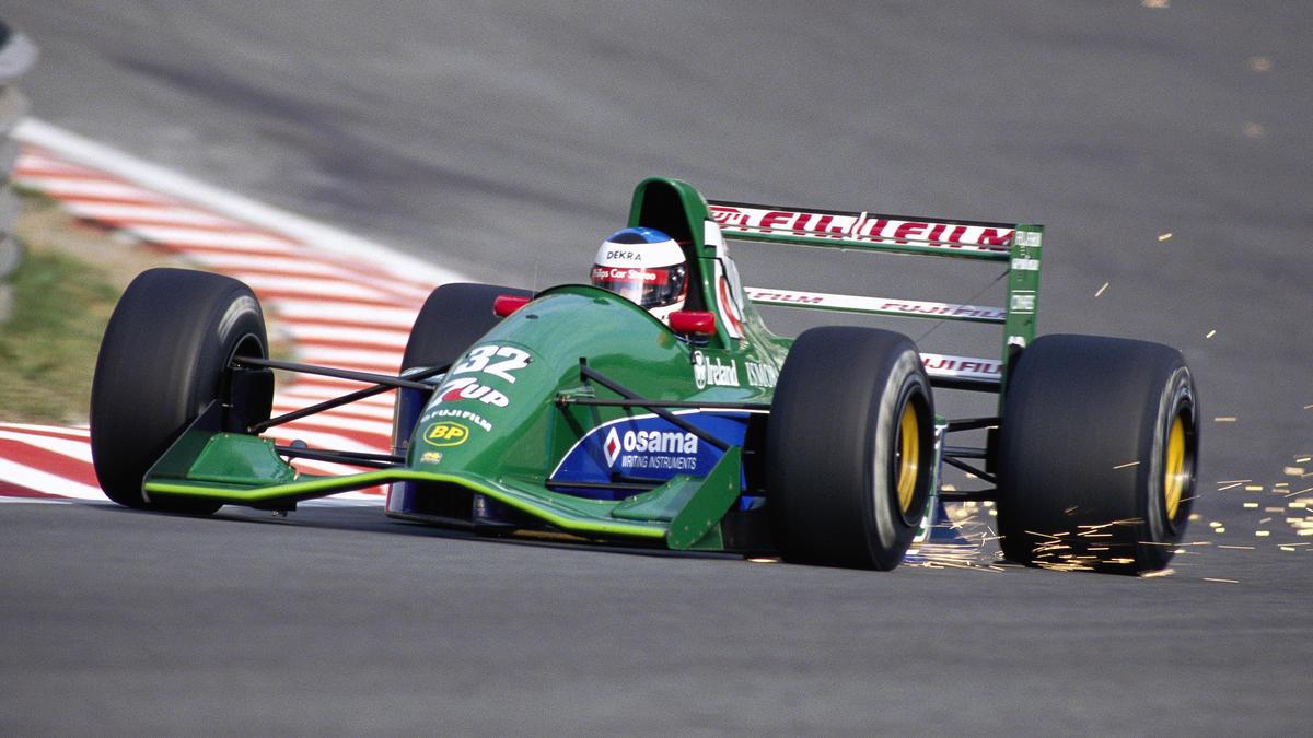 In diesem Jordan-Ford 191 debütierte Michael Schumacher 1991 in der Formel 1