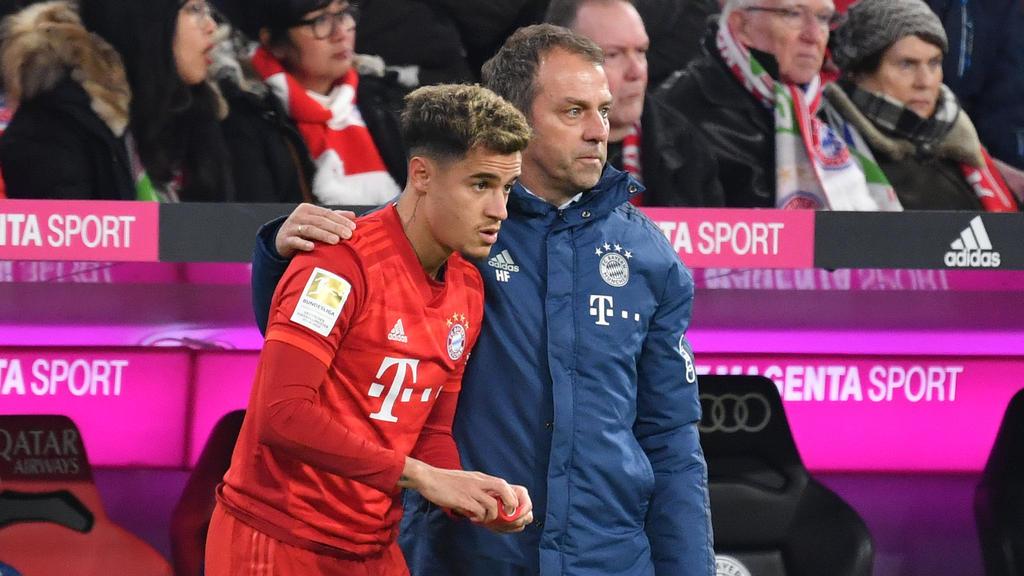 Philippe Coutinho (l.) wird am Samstag in der Anfangsformation des FC Bayern München stehen