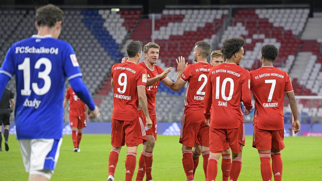 Die Stars des FC Bayern überrollten die Schalker Mannschaft