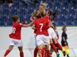 Riesenjubel bei Österreichs Frauen-Nationalteam