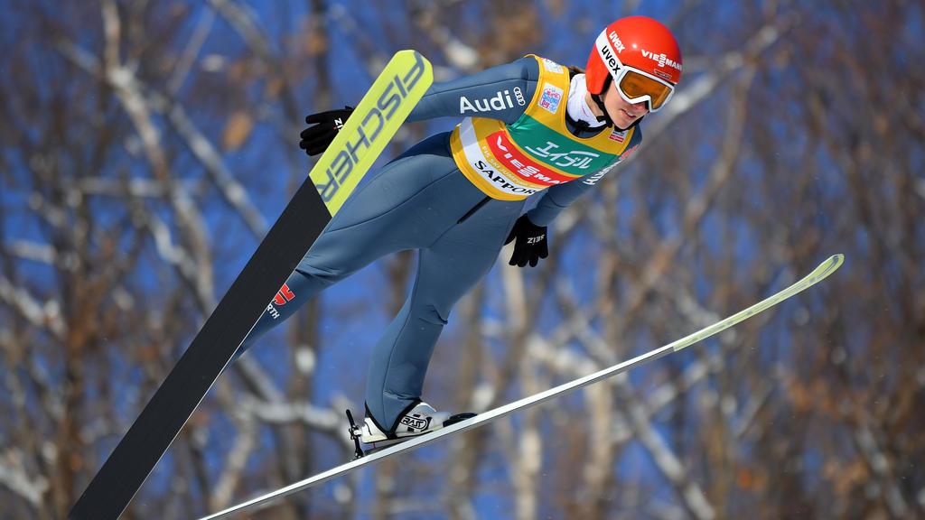 Katharina Althaus landete im achten Springen zum fünften Mal auf dem Treppchen