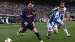 Lionel Messi erlöst den FC Barcelona im Derby