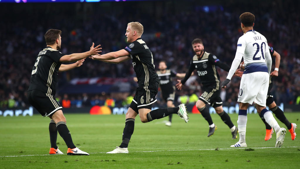 Ajax durfte auch gegen Tottenham jubeln