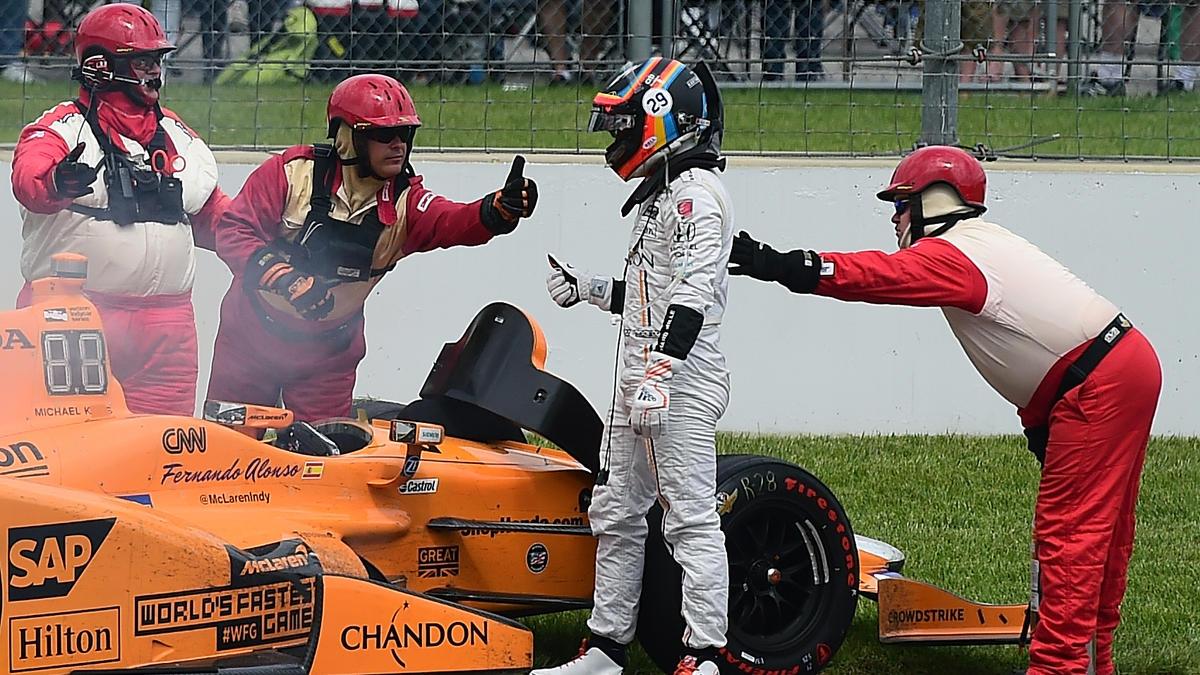 Fernando Alonso verursachte einen Crash