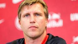 Wollte sich nur bedingt zu FC-Schalke-Keeper Nübel äußern: Leipzig-Sportdirektor Markus Krösche
