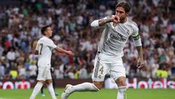 Ramos hizo con la cabeza el primero de los blancos.