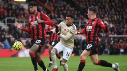 Poca reacción ha mostrado el United fuera de casa.
