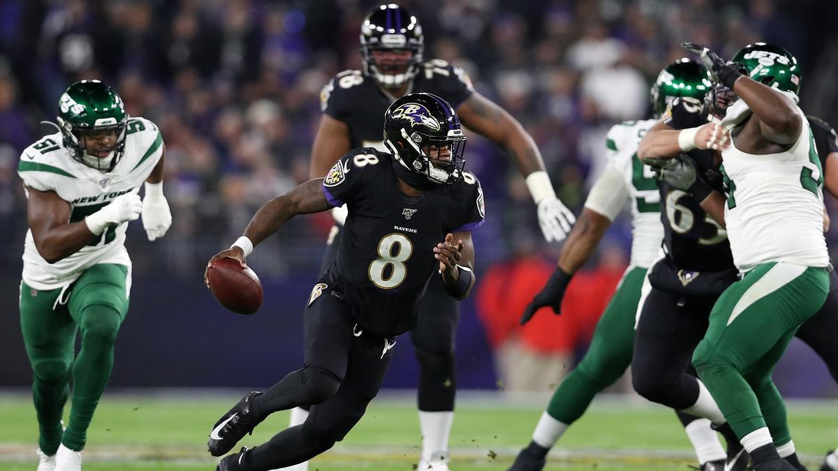 Lamar Jackson (Nr. 8) revolutioniert das Quarterback-Spiel