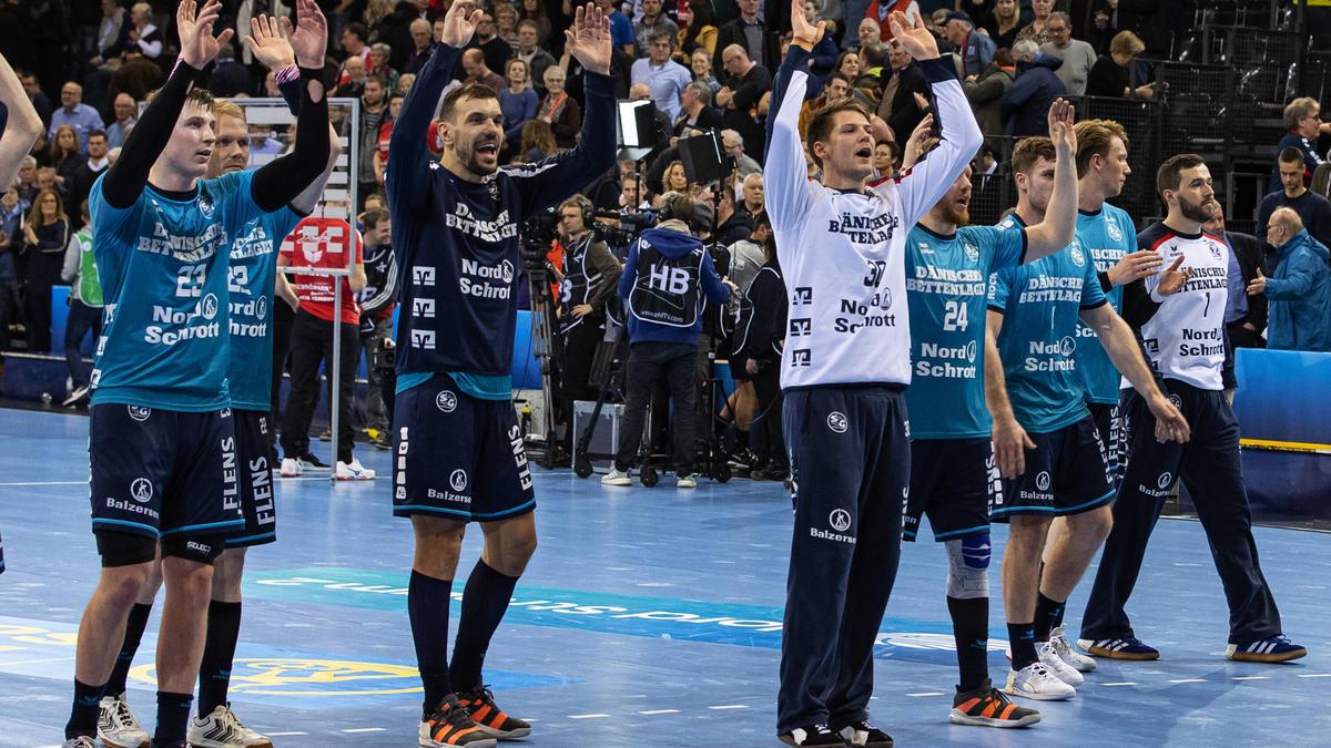 Die SG Flensburg Handwitt feiert zum Abschluss der CL-Gruppenphase einen Sieg