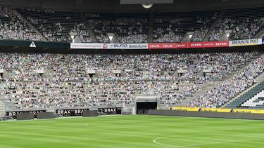 Vista de las gradas del estadio del Borussia Mönchengladbach.