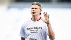 Die norwegische Mannschaft um BVB-Star Erling Haaland hatte ein Zeichen gesetzt