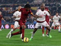 Gervinho, en un Roma-Milan disputado en la capital italiana. (Foto: Getty)