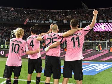 Maresca y Gilardino certificaron la permanencia del Palermo en Serie A. (Foto: Getty)
